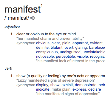 manifest meaning